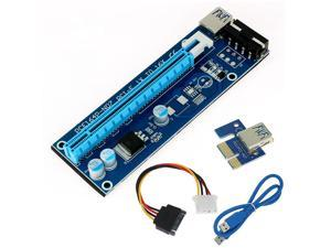 USB 3.0 PCI-E PCI Express 1x To 16x Extender Riser Card Power Cable 60cm PCIE Mining Card Adapter for BitCoin  Ver 007