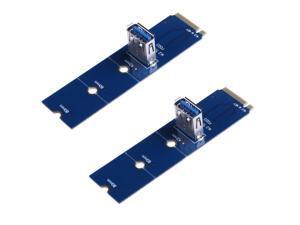 2pcs/lot NGFF M.2 To USB 3.0 PCI-E Express Riser Card M.2/NGFF to USB3.0 Adapter Card for BTC Mining Miner
