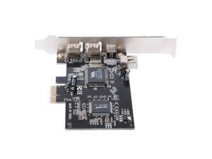 PCI-e 1X IEEE 1394A 4 Port(3+1) Firewire Card Adapter 6-4 Pin Cable For Desktop PC