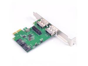 PCI-E to SATA 3.0 6G Card 2 internal SATA + 2x enteral eSATA Port PCIe Card