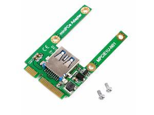 Newest Mini PCI-E Card Slot Expansion to USB 2.0 Interface Adapter Riser Card Eletronic Compatible with USB1.1