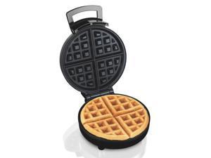 "J-JATI Electric 10""Round Waffle Maker Iron None Stick Surface Rotary Plate"