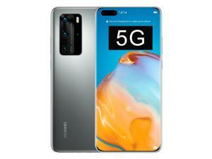 Huawei P40 Pro (5G) ELS-NX9 Dual/Hybrid-SIM 256GB (GSM Only | No CDMA) Factory Unlocked Smartphone - Silver Frost