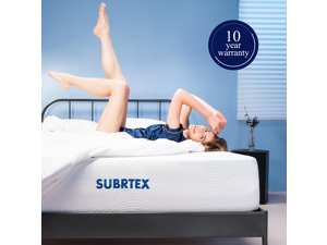 Subrtex 12-inch Breathable 3 Layers Gel-infused Memory Foam Mattress Soft Full Body Support Comfortable Cooling Bed in a Box - 10 Years Warranty