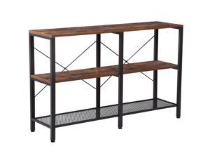 KINGWEST 3 Layers Shelving Units Storage Rack Steel 3-Tier Storage Shelves with Heavy Duty Kitchen Shelves Bookshelf Display Shelving for Home Office