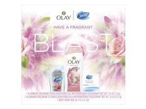 Secret Invisible Solid Calm + Clinical Strength Smooth Light + Olay Fresh Outlast Body Wash