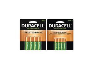 4 AA (2500 mAh) + 4 AAA (900 mAh) Duracell Rechargeable Battery Combo