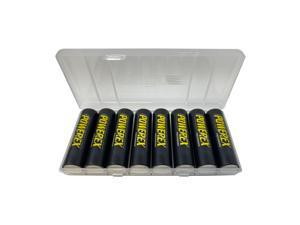8 x AA NiMH Powerex Rechargeable Batteries (2600 mAh) with Battery Case