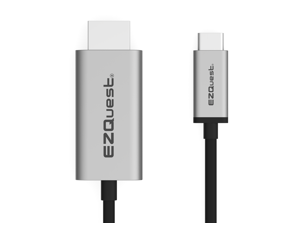 EZQuest USB-C to HDMI 4K 60Hz Cable with HDR Space Gray 2 meter - X40017