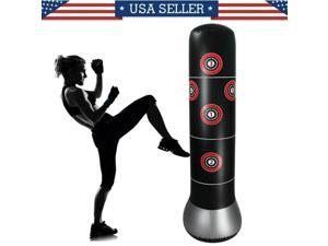 Adult Iatable Free Standing Punching Bag Training Fitness Sport Stress Boxing