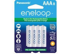 dens Eneloop AAA 8 Pack Rechargeable Batteries up to 2100x, BK-4MCCA8BA