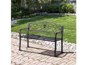 """Clearance Sale 51"""" Outdoor Garden Bench Yard Park Furniture Metal Frame All"""