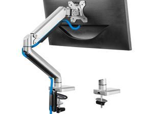 """17-32"""" Single Monitor Desk Mount Stand, Heavy Duty Articulating Gas Spring Monitor VESA Arm with Clamp and Grommet Base, Fits for Computer Monitor 17 to 32 inch, Holds up to 17.6 lbs…"""