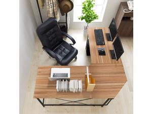 """SogesHome L-Shaped Desk 59""""×59"""" Computer Desk L Desk Office Computer Table Gaming Desk Workstation with Computer Host Stand,NSDCA-LD-Z01-OK…"""