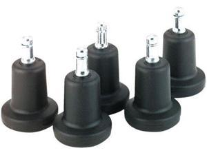 """5 X Master Caster 70175 High Profile Bell Glides for Office Chairs, 2-3/16"""" Base Diameter, 7/16 x 7/8"""" B Stem Fastener,"""