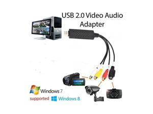 Newest updated The VHS to Digital Converter USB 2.0 Video Converter Audio Capture Card VHS Box VHS VCR TV to Digital Converter Support Win 2000/Win Xp/ Win Vista /Win 7/Win 8/ Win 10 Linux Mac/Android