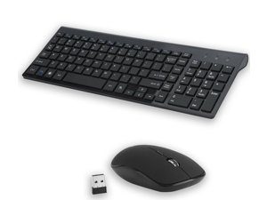 Wireless Keyboard And Mouse Combo Set 2.4G For Apple iMac And PC Full Size Slim
