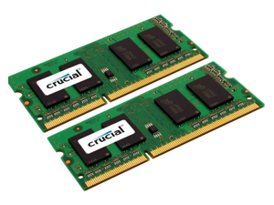 Crucial 8GB Kit 2 x 4GB DDR3 1600 MHz PC3-12800 DDR3L Laptop RAM Sodimm Memory