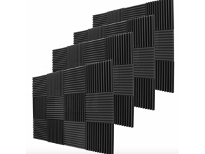 """48 Pack Acoustic Wedge Soundproofing Studio Foam Wall Tiles 12"""" X 12"""" X 1"""""""