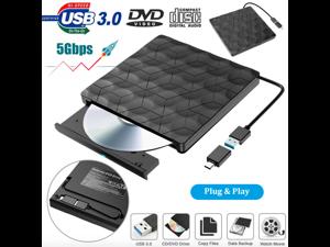 External USB 3.0 DVD RW CD ROM Reader Writer Drive Burner Player For Laptop PC