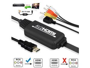 RCA AV to HD 1080P HDMI Video Audio Cable Converter For Nintendo PS3 VCR Laptop