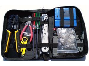 Network Cable Tester RJ45 Crimper 100 pcs CAT5e Connector Plug Tool Kits