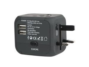 Travel Charger Adapter Plug Converter Dual USB Universal AC Power For Cell Phone