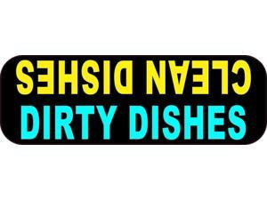 StickerTalk Clean Dishes Dirty Dishes Magnet, 3 inches by 1 inch