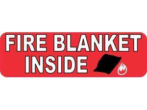 StickerTalk Fire Blanket Inside Vinyl Sticker, 10 inches by 3 inches