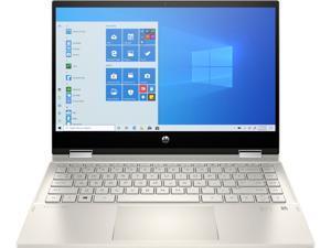 "HP Pavilion x360 14"" FHD IPS Touchscreen Premium 2-in-1 Laptop, 10th Gen Intel Quad Core i5-1035G1, 8GB RAM, 256GB PCIe SSD, Backlit Keyboard, Fingerprint Reader, Windows 10 Pro, Luminous Gold"