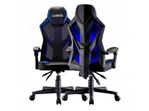 UOMAX LED Gaming Chair Light Computer Chairs with Ergonomic Mesh Back Support, Seat Height Adjustable, E-Sports Gamer Chairs with Widen Seat (Blue)