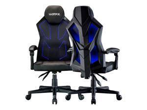 UOMAX LED Gaming Chair Light Computer Chairs with Ergonomic Mesh Back Support, Seat Height Adjustable, E-Sports Gamer Chairs with Widen Seat (Black Blue)