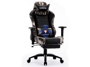 UOMAX Gaming Chair Reclining Rocking Office Chair for Computer, Racing Style Office Chair Recliner with Footrest and Massage Lumbar Support, PU Leather E-Sports Game Seat for Gamer(Camo)