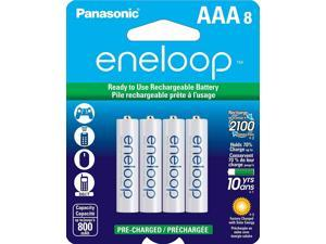 Eneloop AAA 8 Pack Rechargeable Batteries up to 2100x, BK-4MCCA8BA