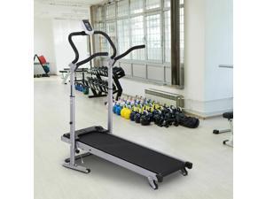 Folding Walking Backwards Treadmill With LCD Display, 3 Reclining Angle