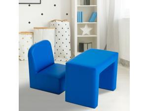 CYBER MONDAY SALE 2-in-1 Kids Table  Sofa Chair Set Multifunctional Toddler