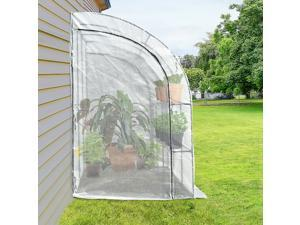 Outdoor Wall Greenhouse Gardening Tunnel Walk-In with Windows and Doors