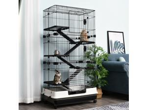"""CYBER MONDAY SALE   6-Level Rabbit or Small Animal Hutch/Cage, 57.5"""" H"""