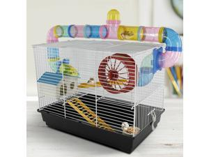 CYBER MONDAY SALE Hamster Cage 2 Level Mice Gerbil Heaven Tube Spinning