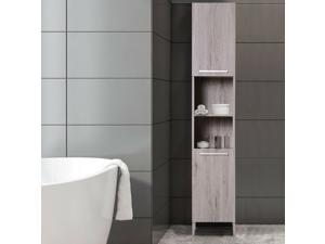 Wooden Tall Storage Cabinet Home Organizer MDF Bathroom Living Room Furniture