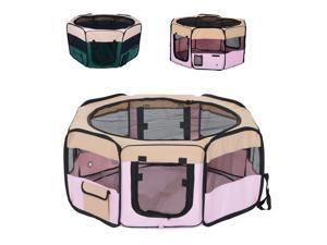 Pet Pen Folding Playpen Cage Tent Kennel Soft Exercise Crate