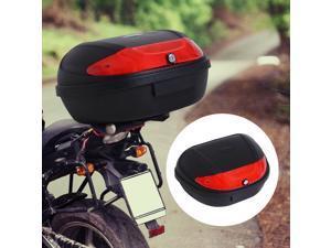Motorcycle Tail box 52L Top Case Motorbike Trunk Helmet Carrier  w/ Keys