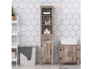Cyber Monday Sale, Freestanding Bathroom Storage Cabinet Slimline Unit