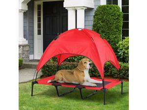 Elevated Pet Bed Dog Foldable Outdoor Cot Red
