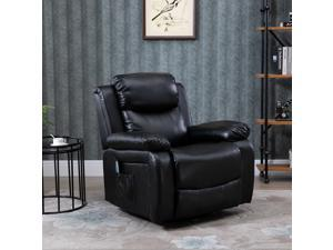 Deluxe Electronic Heated Massage Sofa Recliner Padded Lounge Armchair