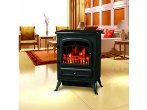 """21.6"""" Free Standing 1500W Electric Fireplace Portable Adjustable"""
