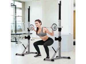 Barbell Stand Rack Squat Rack Adjustable Fitness Gym Family