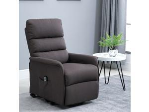 Electric Power Lift Chair and Recliner in Linen Fabric Living Room Bedroom