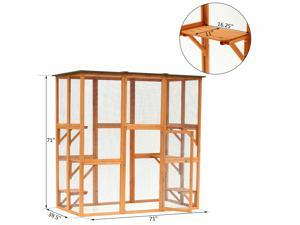 Large Wooden Outdoor Cat Enclosure Cage Pet House