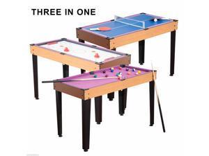 3 in 1 Mini Games Table Tennis Billiard Pool Air Hockey Set w/ Accessory